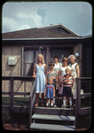 At Beach House, kids, Kathy and Mrs. D by James Madison University