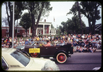 Old car and city councilman in Bicentennial Parade by James Madison University
