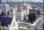 Court House and Presbyterian Church viewed from aerial ladder by James Madison University