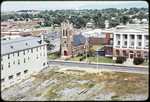 Catholic Church, Post Office., Kavanaugh annex and cleared site for Harrison Plaza by James Madison University