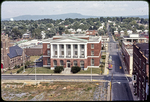 Harrisonburg Post Office viewed before Harrison Plaza is built by James Madison University