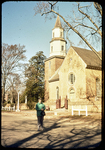 Kathy and Bruton Parish Church in Williamsburg by James Madison University