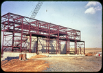 Steel structure, Steam Plant and gravel roadway, upper side by James Madison University