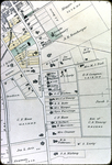 Map of 1885 Harrisonburg - S. Main and S. German St. from Bruce to Grace