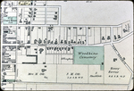 Map of 1885 Harrisonburg - Woodbine Cemetery and E. Market St.